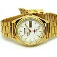 CITIZEN AUTOMATIC MEN GOLD PLATED WHITE DIAL VINTAGE MADE JAPAN WATCH RUN ORDER